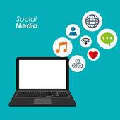 aplikace sociálních sítí přenosný digitální