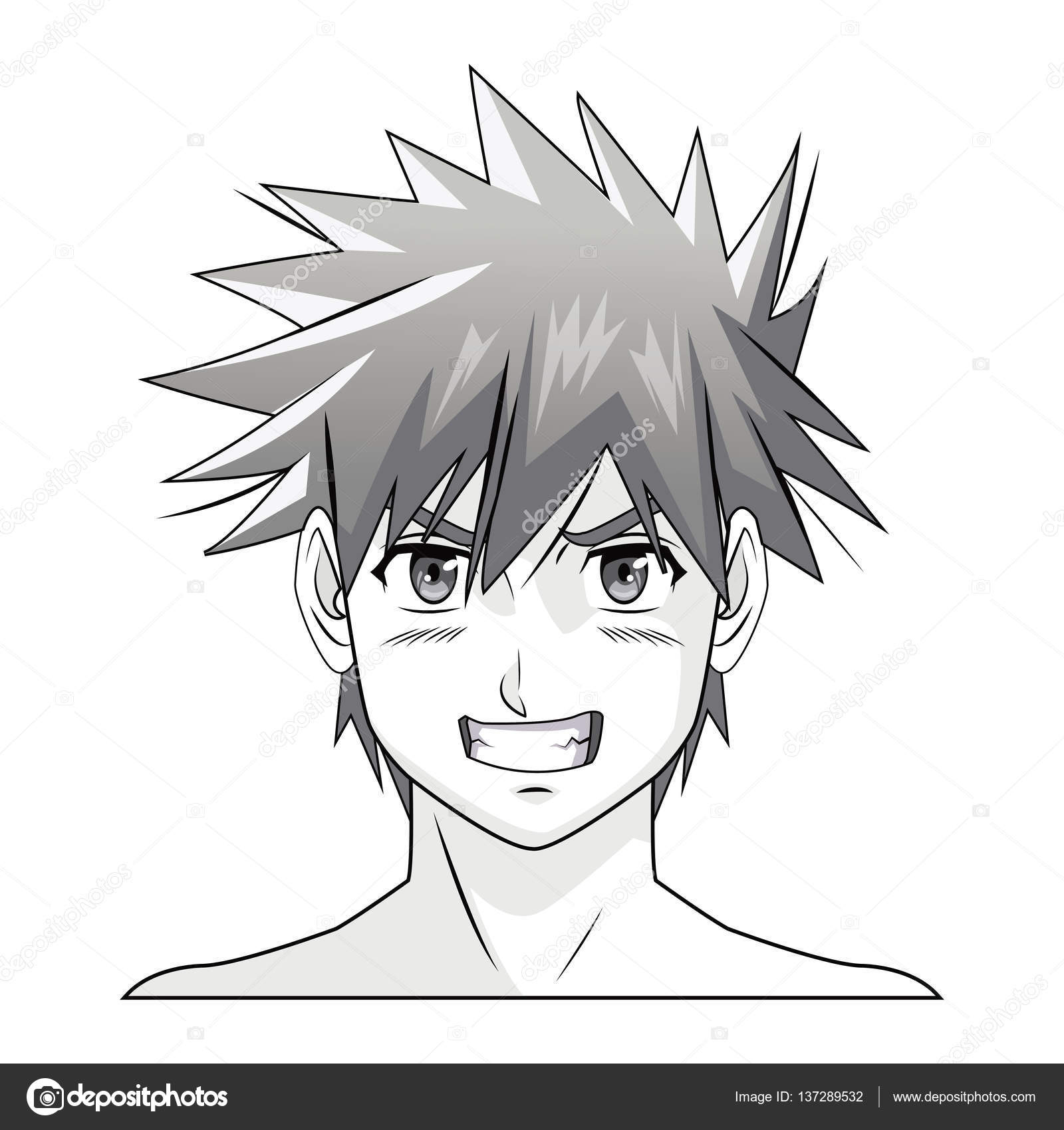 Manga dessin homme visage dessin de manga - Dessin manga visage ...