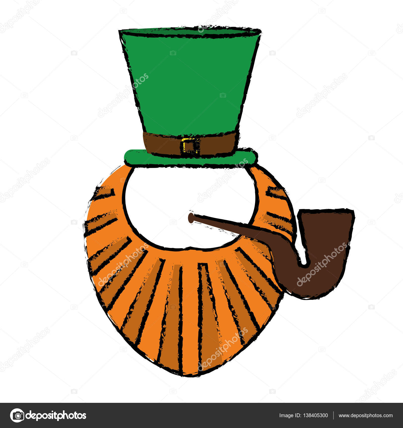 dibujos animados de st patrick día leprechaun barba sombrero y ...