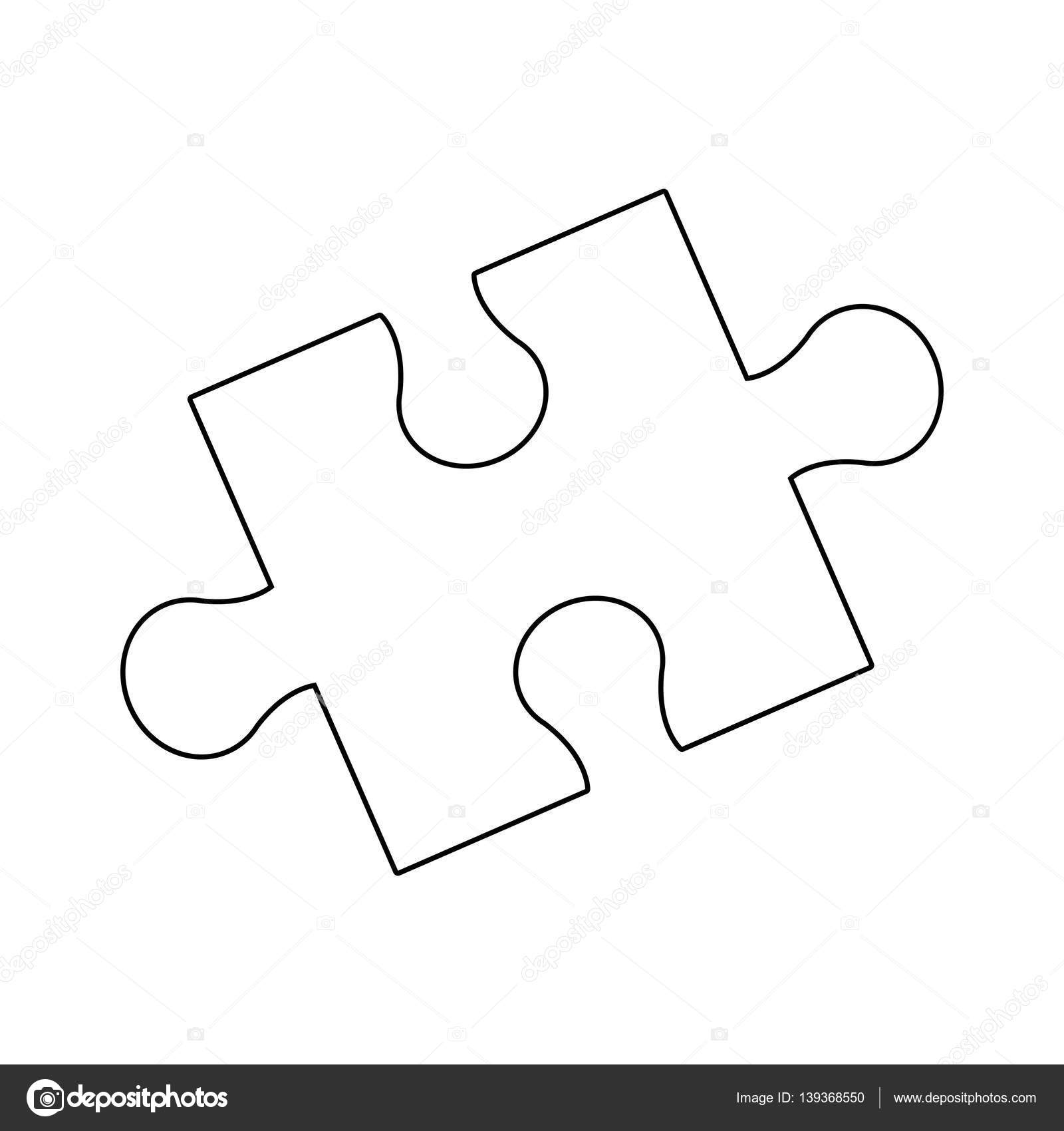 Jigsaw Puzzle Icon Stock Vector