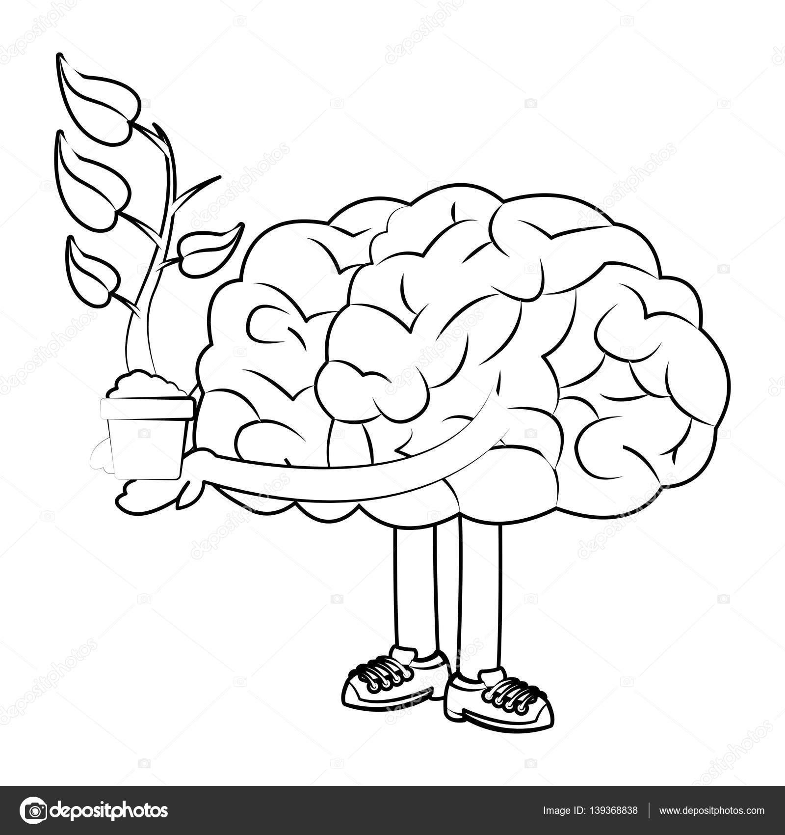 Human Brain Design Stock Vector C Jemastock 139368838