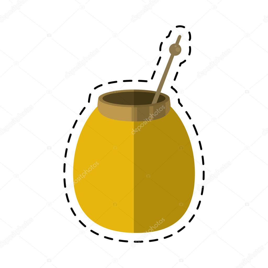 mate tea calabash herb-cut line