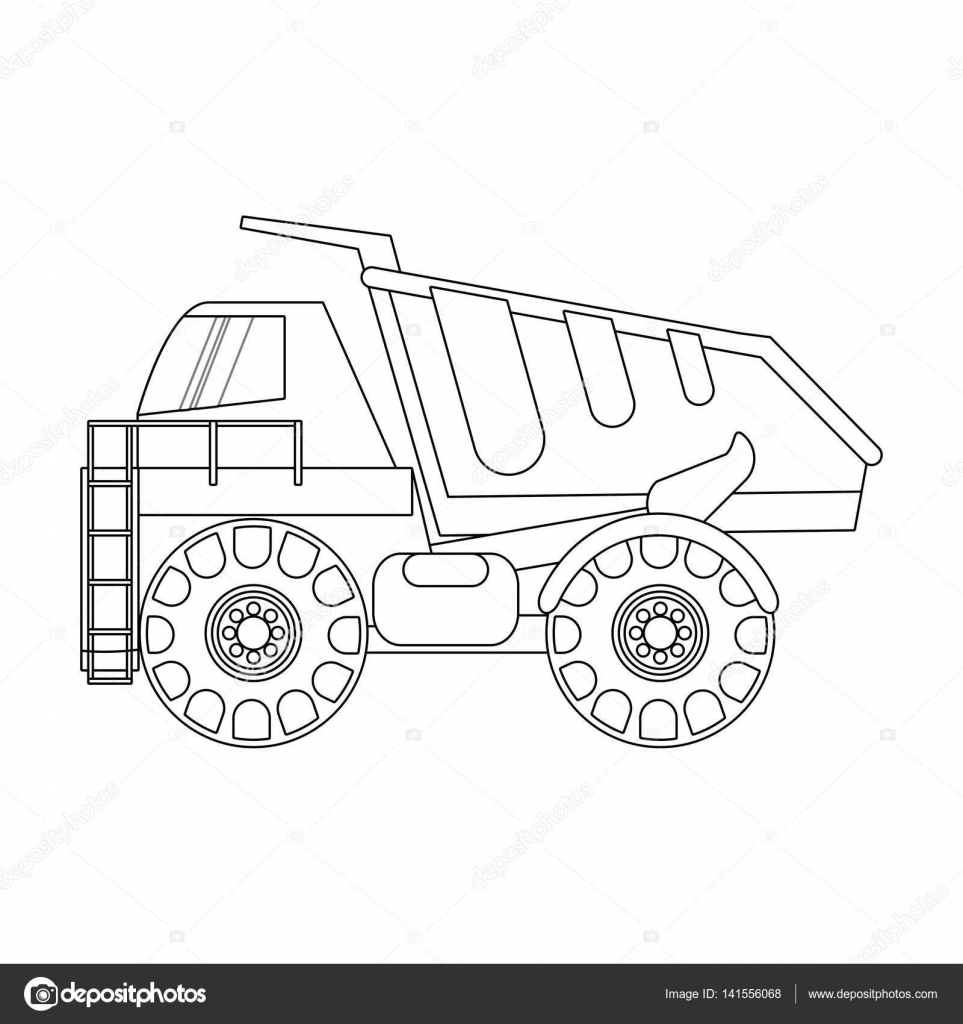 diseño de camiones de construcción — Vector de stock © jemastock ...