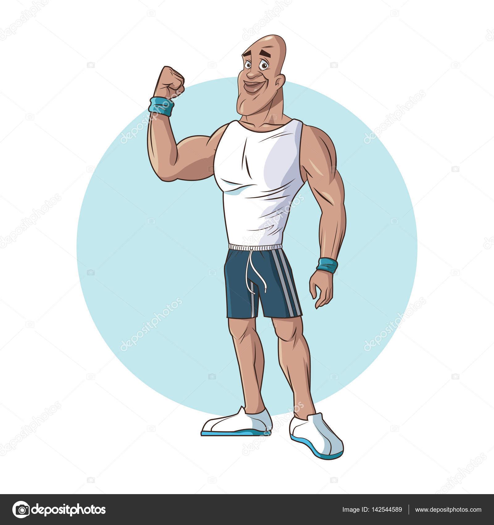 健康な人運動筋肉強い腕 ストックベクター Jemastock 142544589