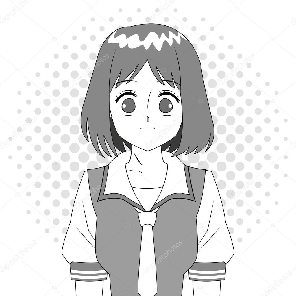Anime Schwarz Weiß