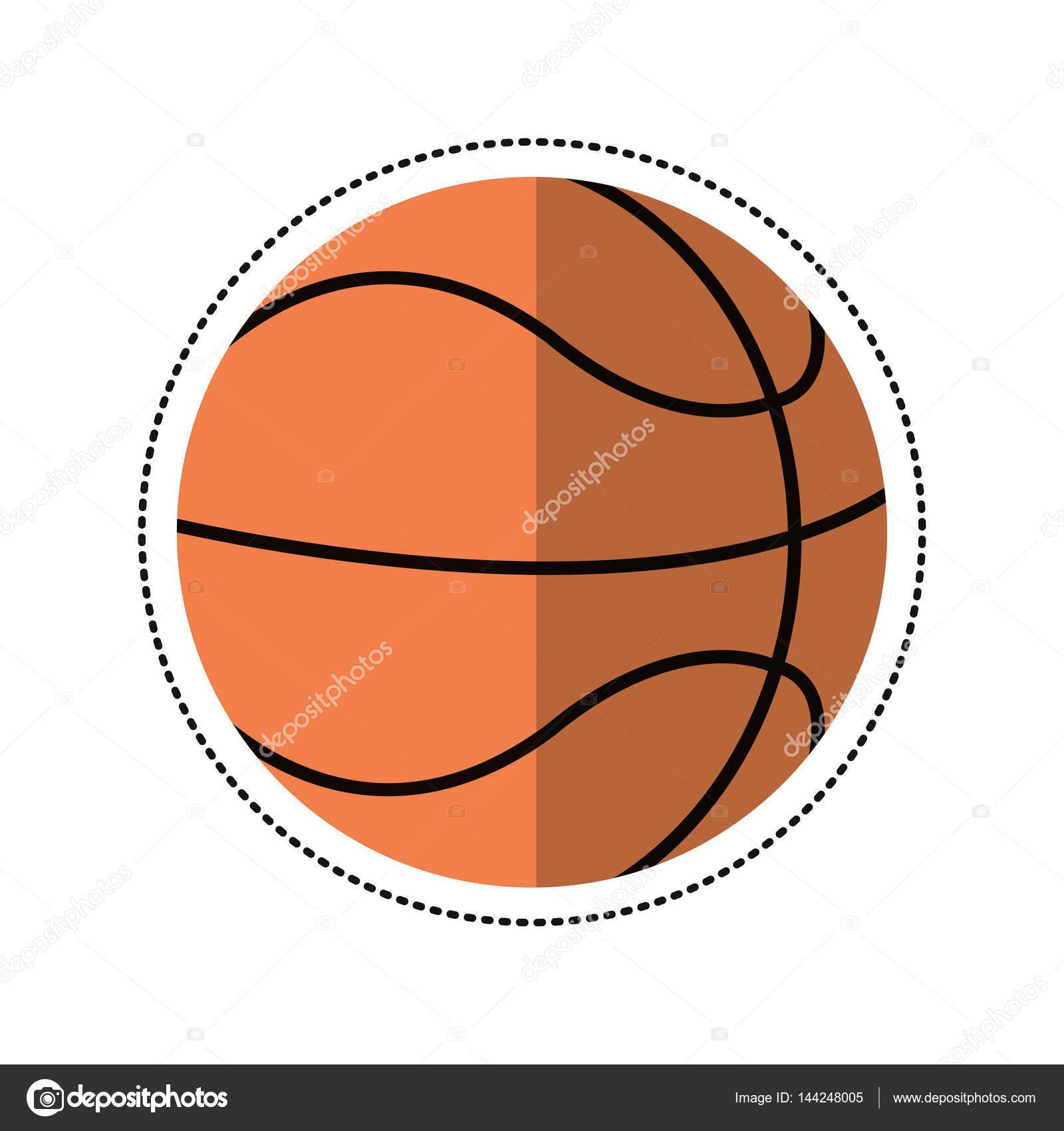desenho animado jogo de bola de basquete vetor de stock