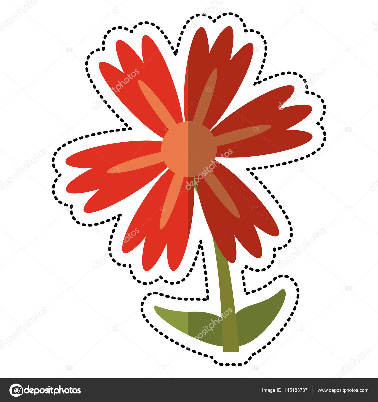 Cartoon lily flower natural stock vector jemastock 145183737 cartoon lily flower natural vector illustration eps 10 vector by jemastock izmirmasajfo