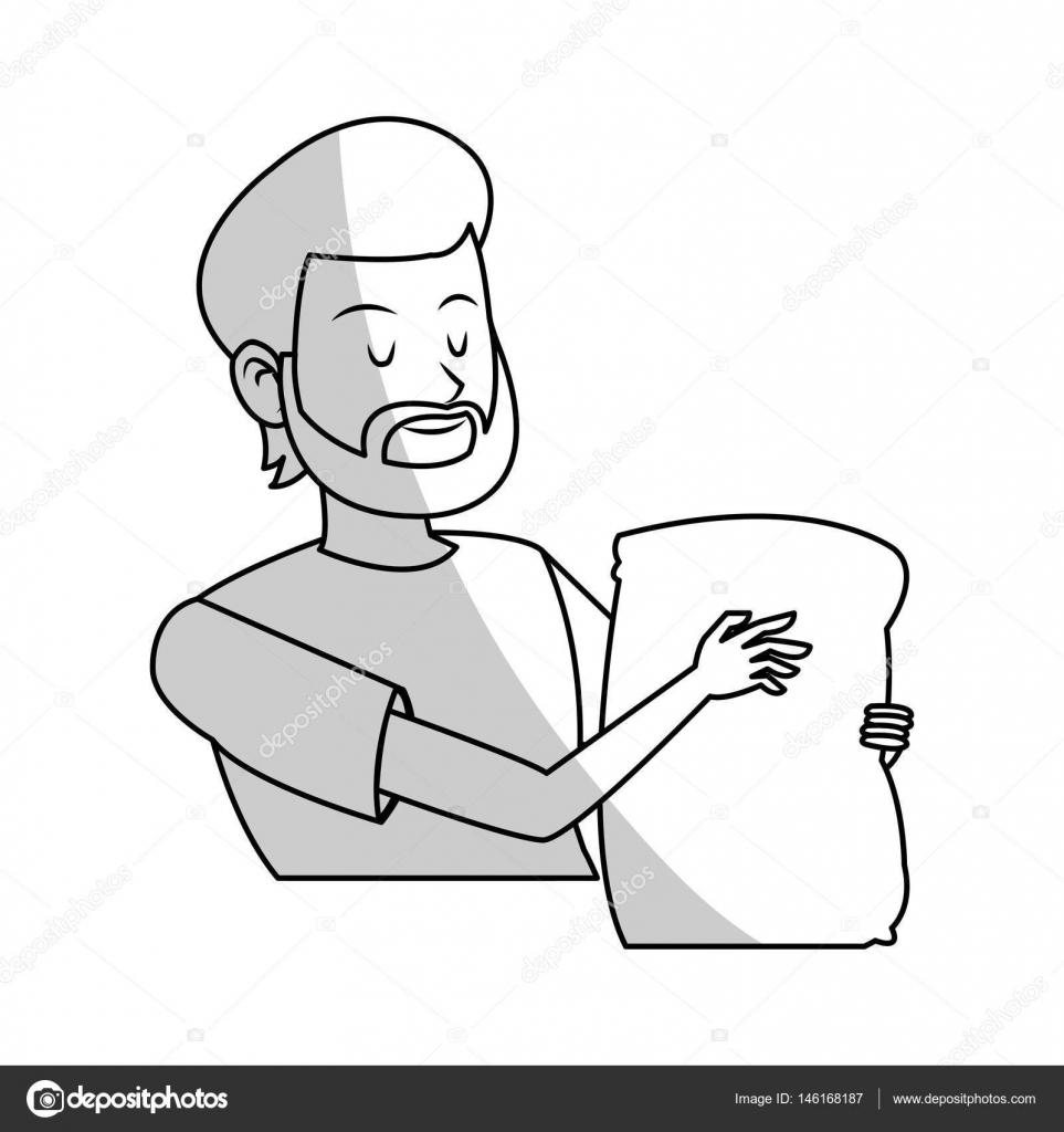 Dibujos Para Colorear De Hombres Trabajando En El Campo Icono De