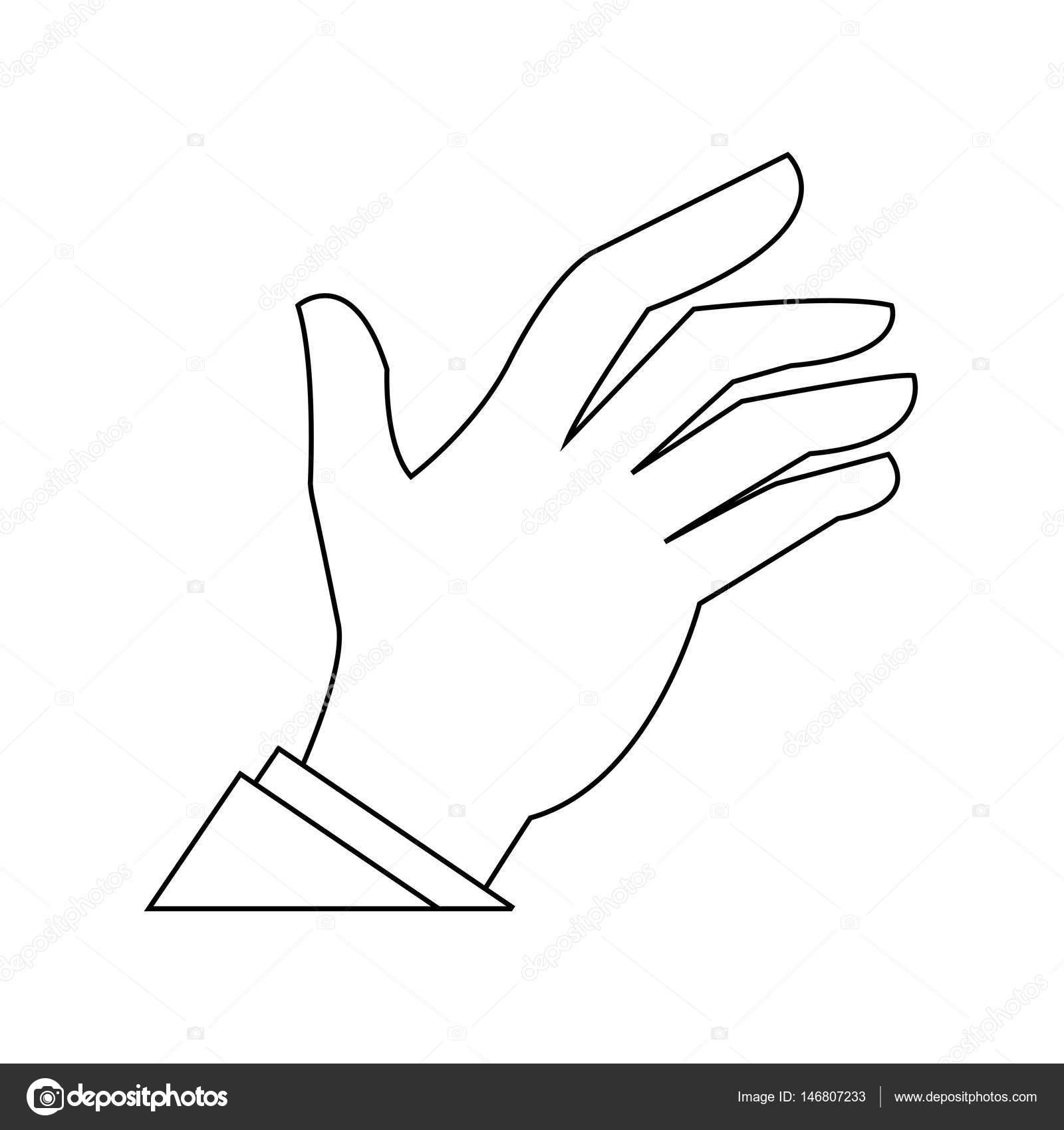 開いた手の形のアイコンの画像 ストックベクター Jemastock 146807233