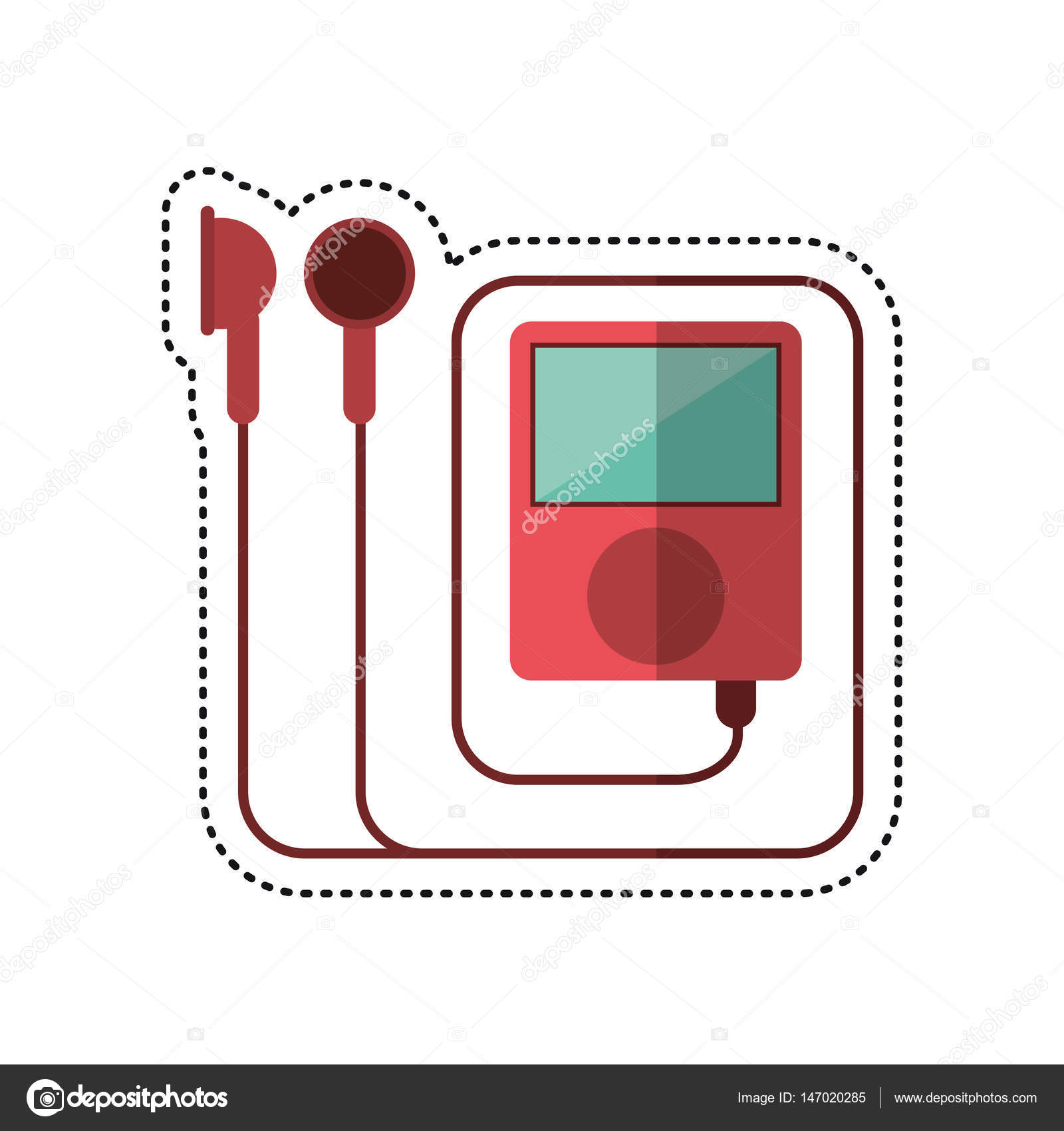 Cartoon mp3 music gym equipment — Stock Vector © jemastock