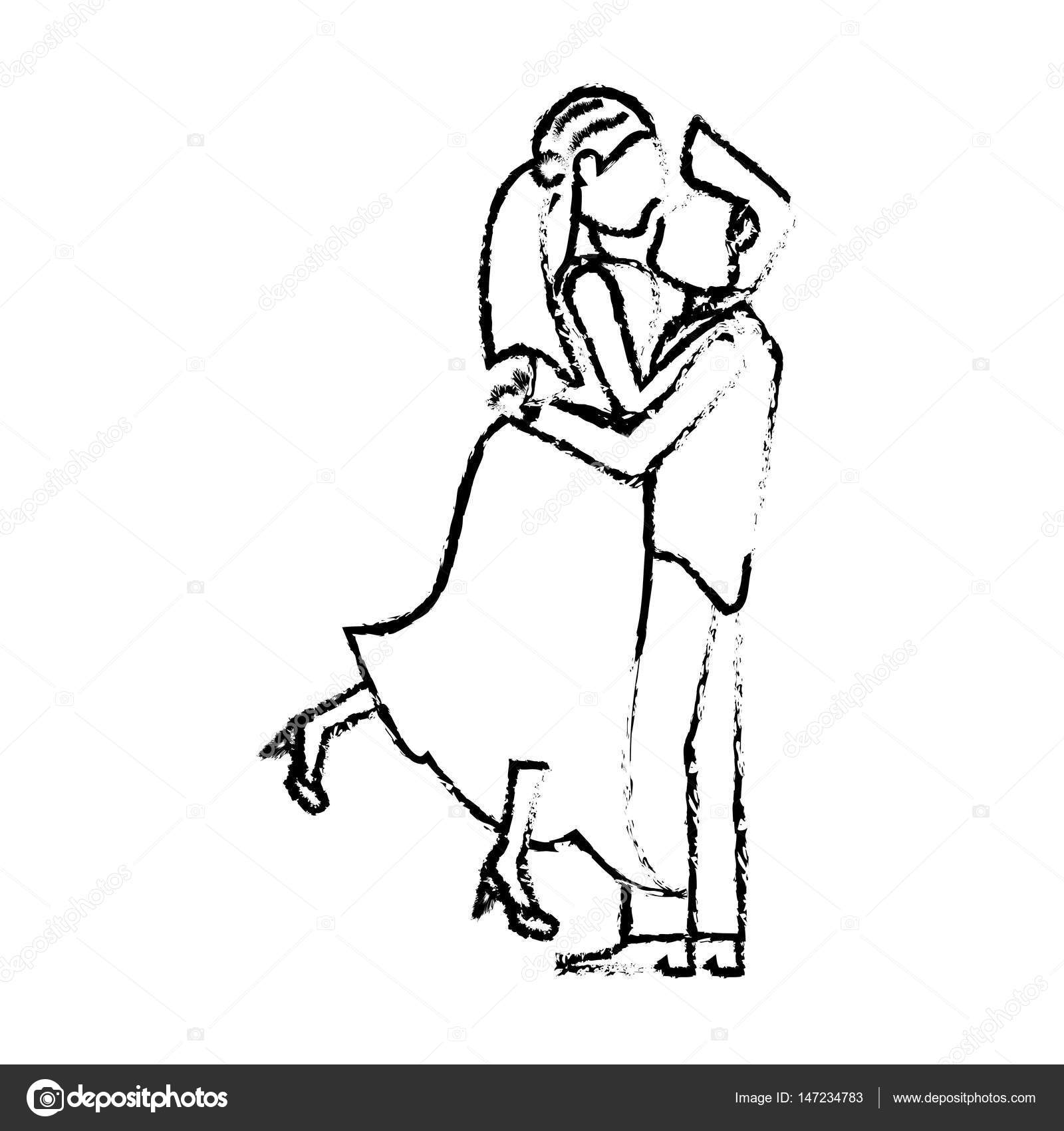 Couple Wedding Love Romance Sketch Stock Vector C Jemastock 147234783