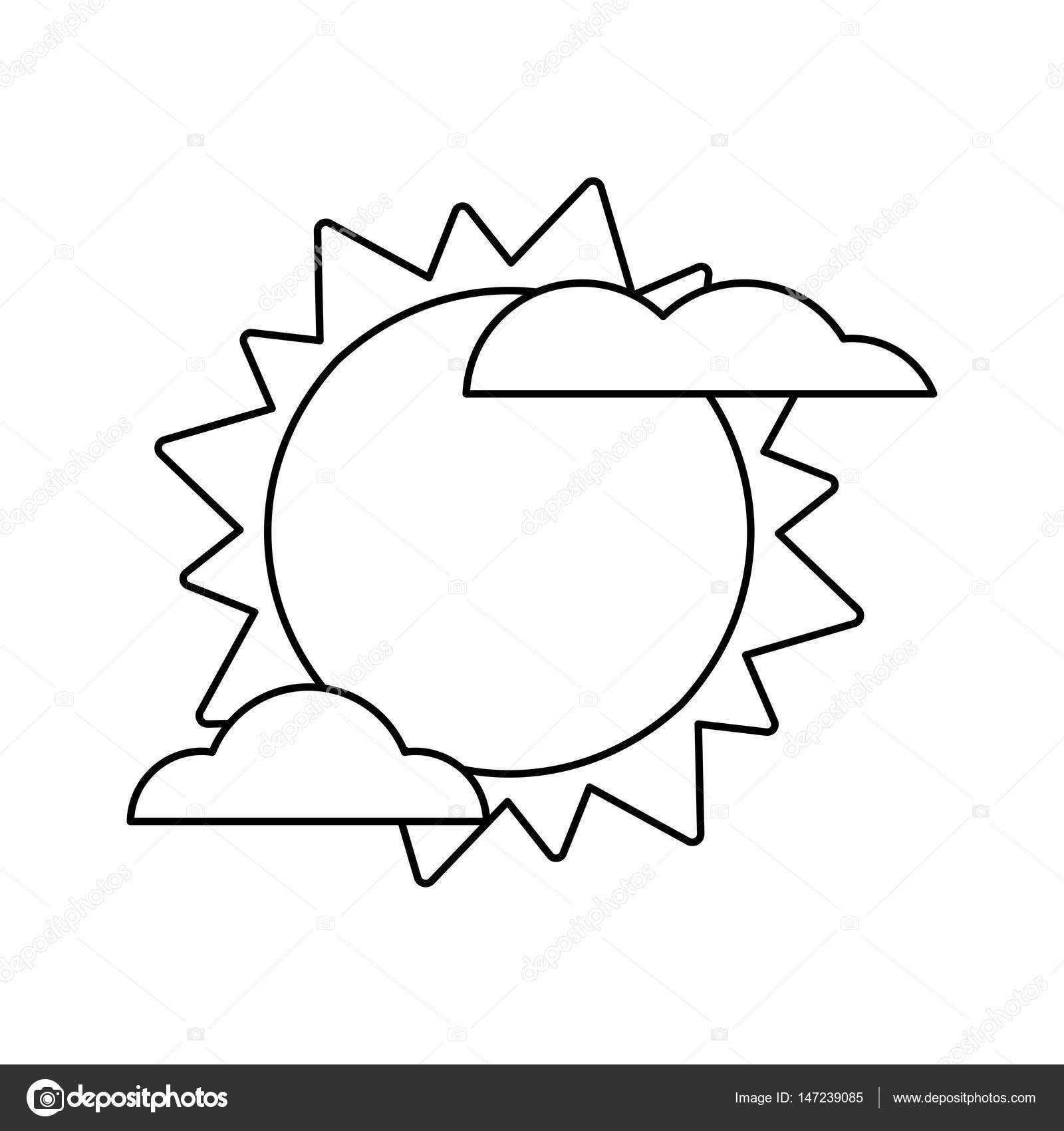 imagen de tiempo de nube sol — Archivo Imágenes Vectoriales ...