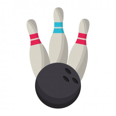 bowling ball pin game