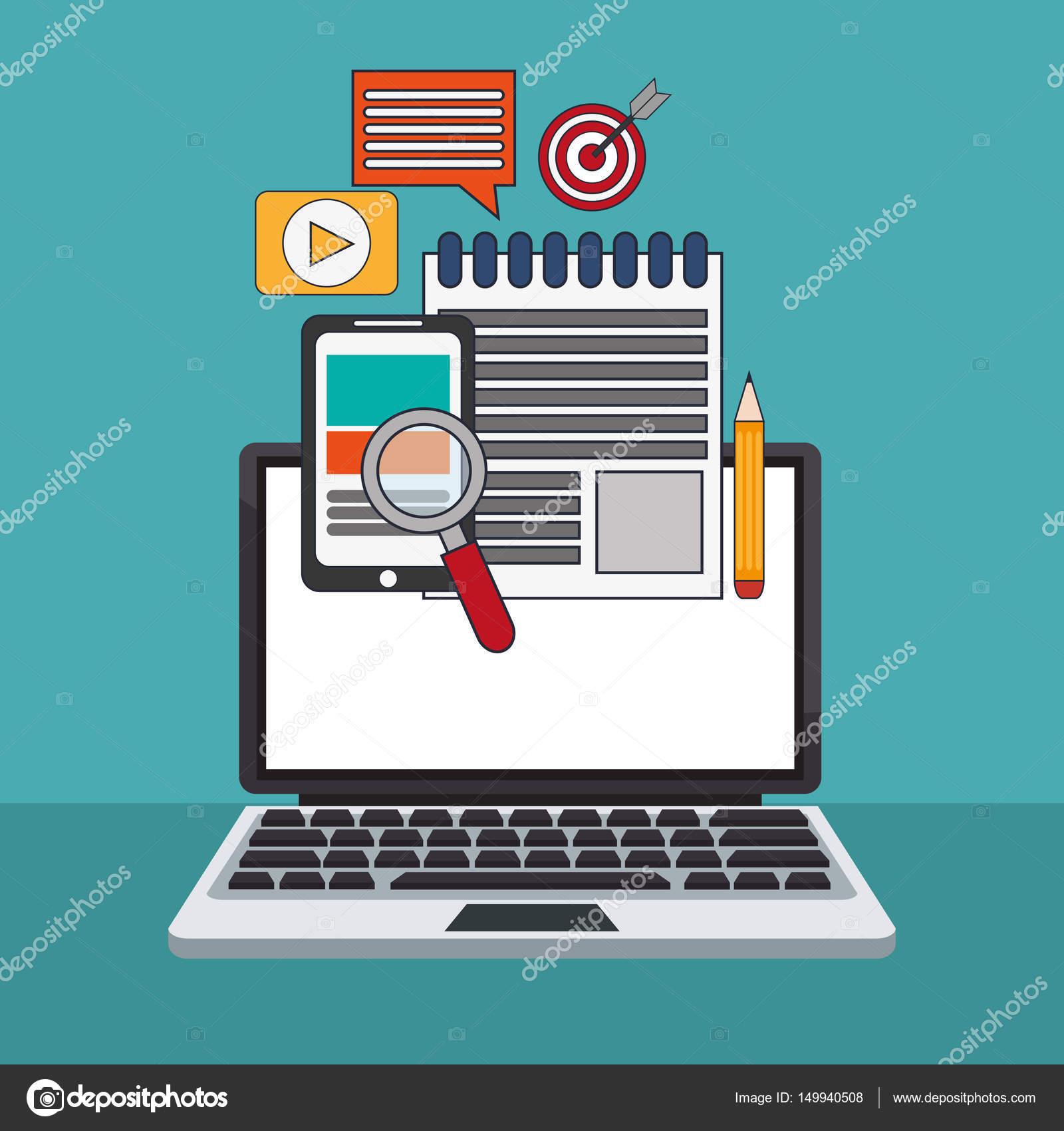 Digital Marketing Networking System Image Stockvektor Jemastock