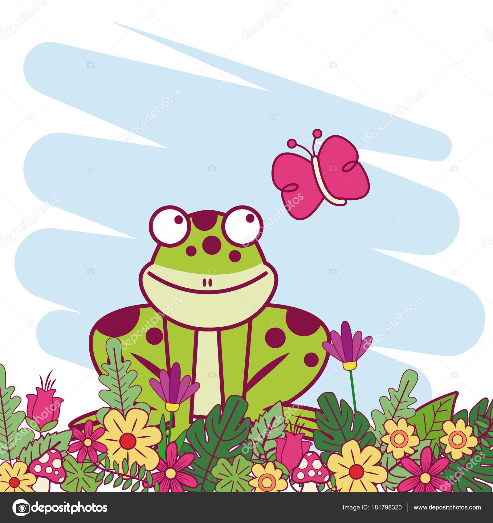 Animales De Dibujos Animados De Primavera Archivo Imágenes