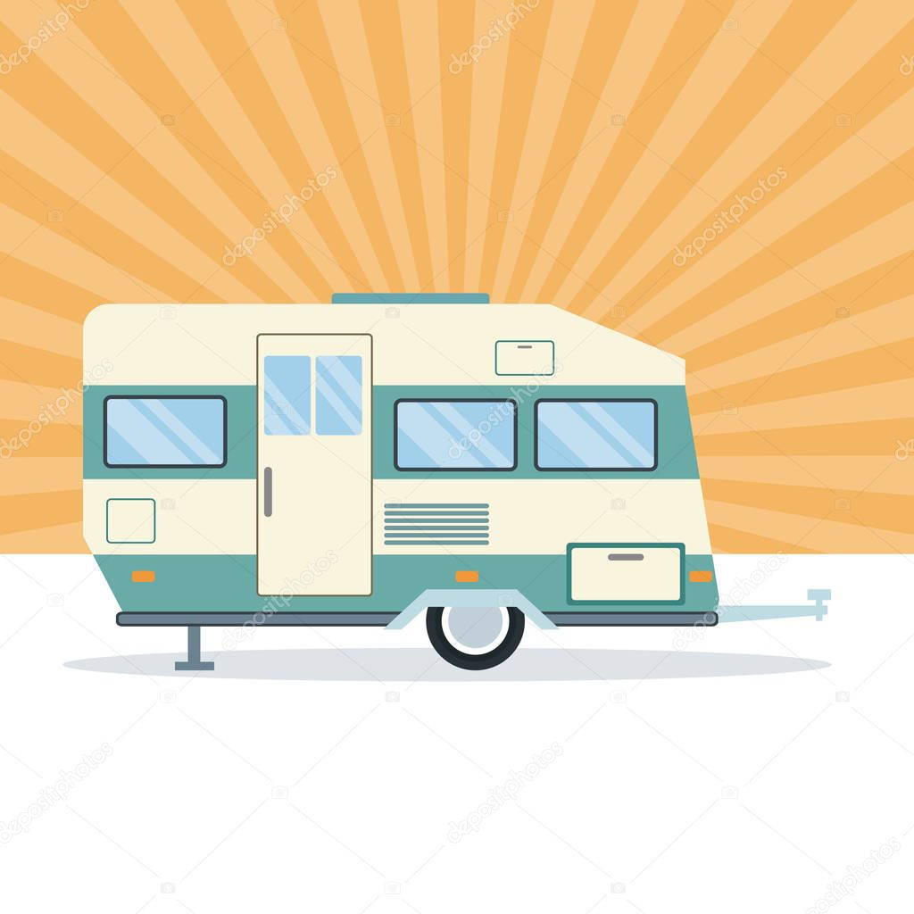 Caravan trailer vehicle