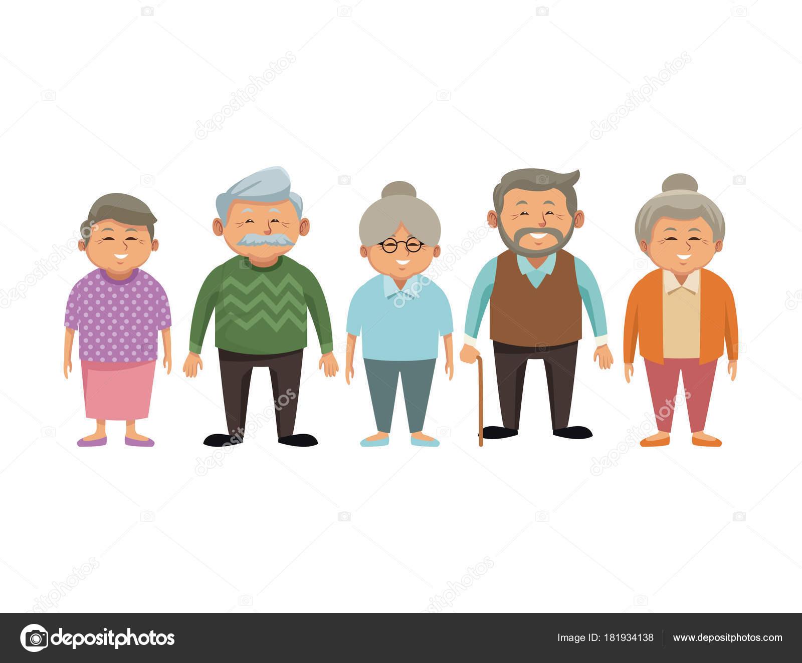 Abuelos Lindos Dibujos Animados
