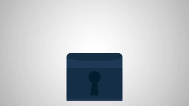 Bezpečnostní visací zámek animati