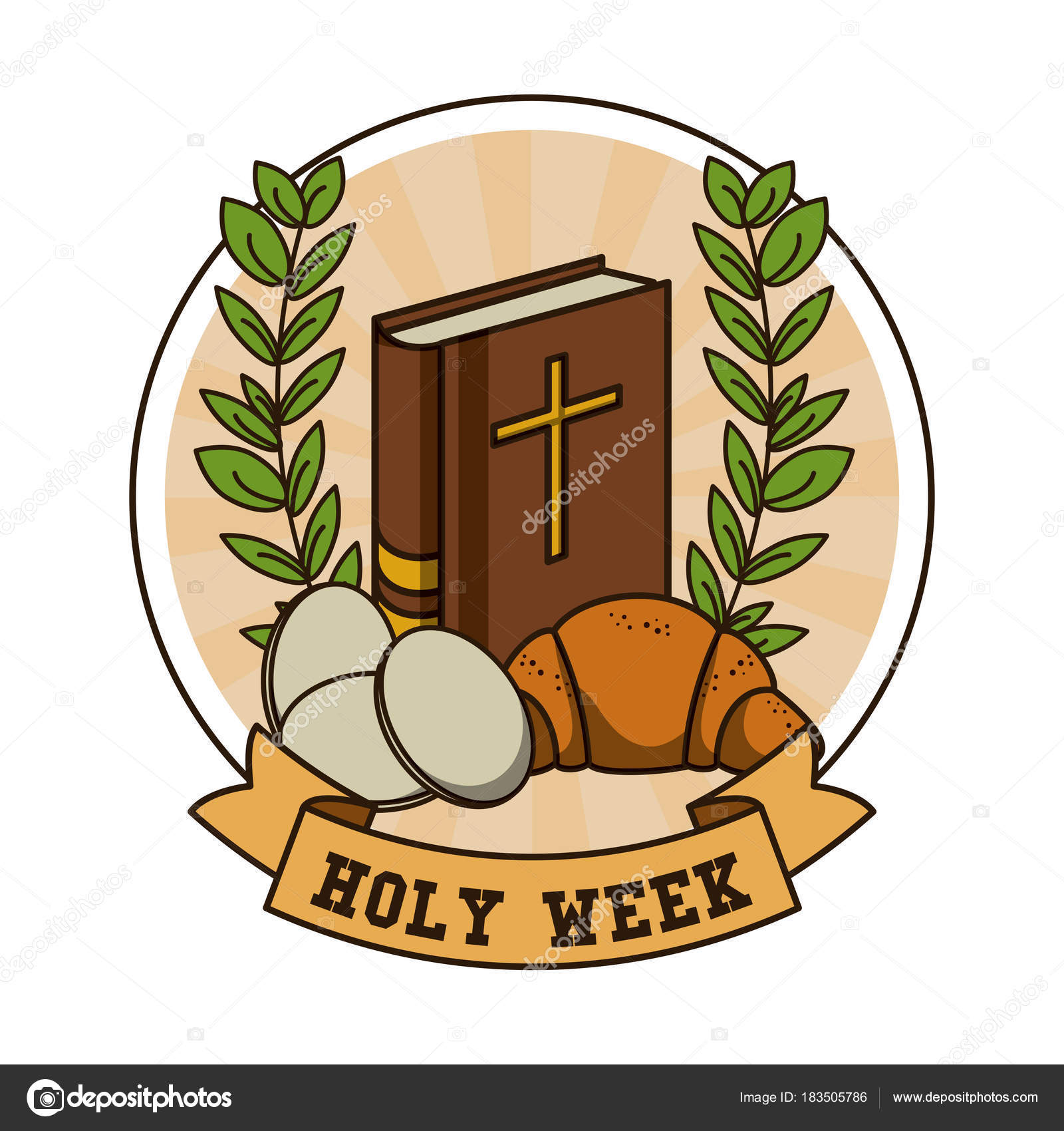 Holy week catholic tradition stock vector jemastock 183505786 holy week catholic tradition stock vector buycottarizona Images