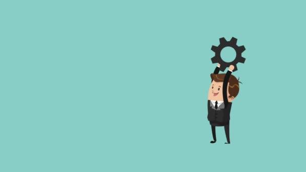 podnikatelé a gears tým práce ikony