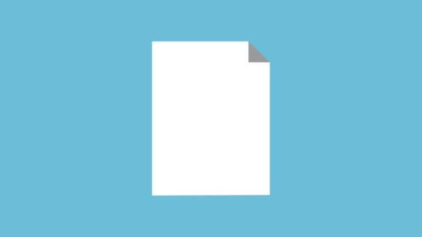 Prázdný list s geometrickými kompasu Nástroj pro a triangle vládce Hd animaci