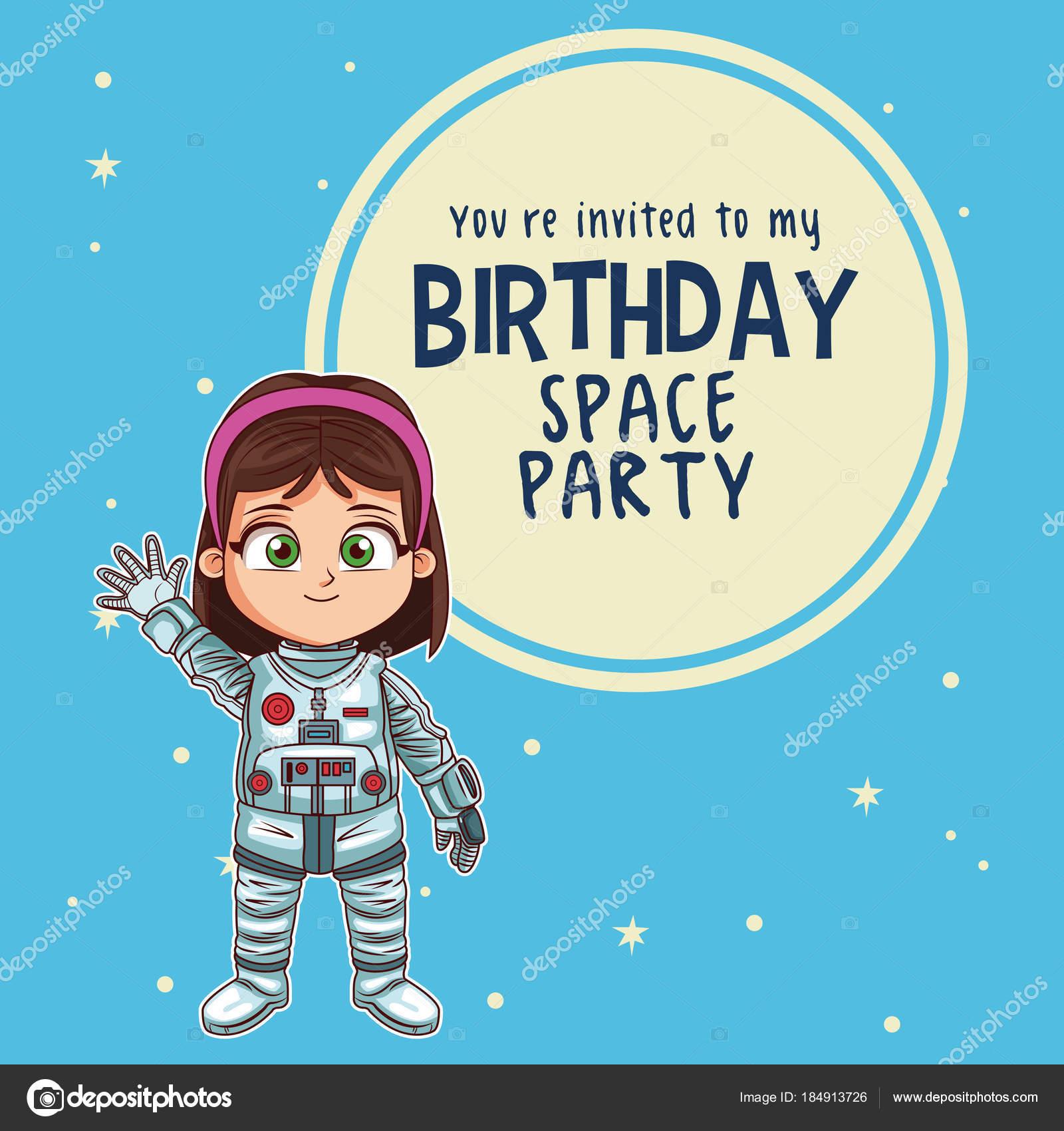 Happy Birthday Invitation Card Stock Vector Jemastock