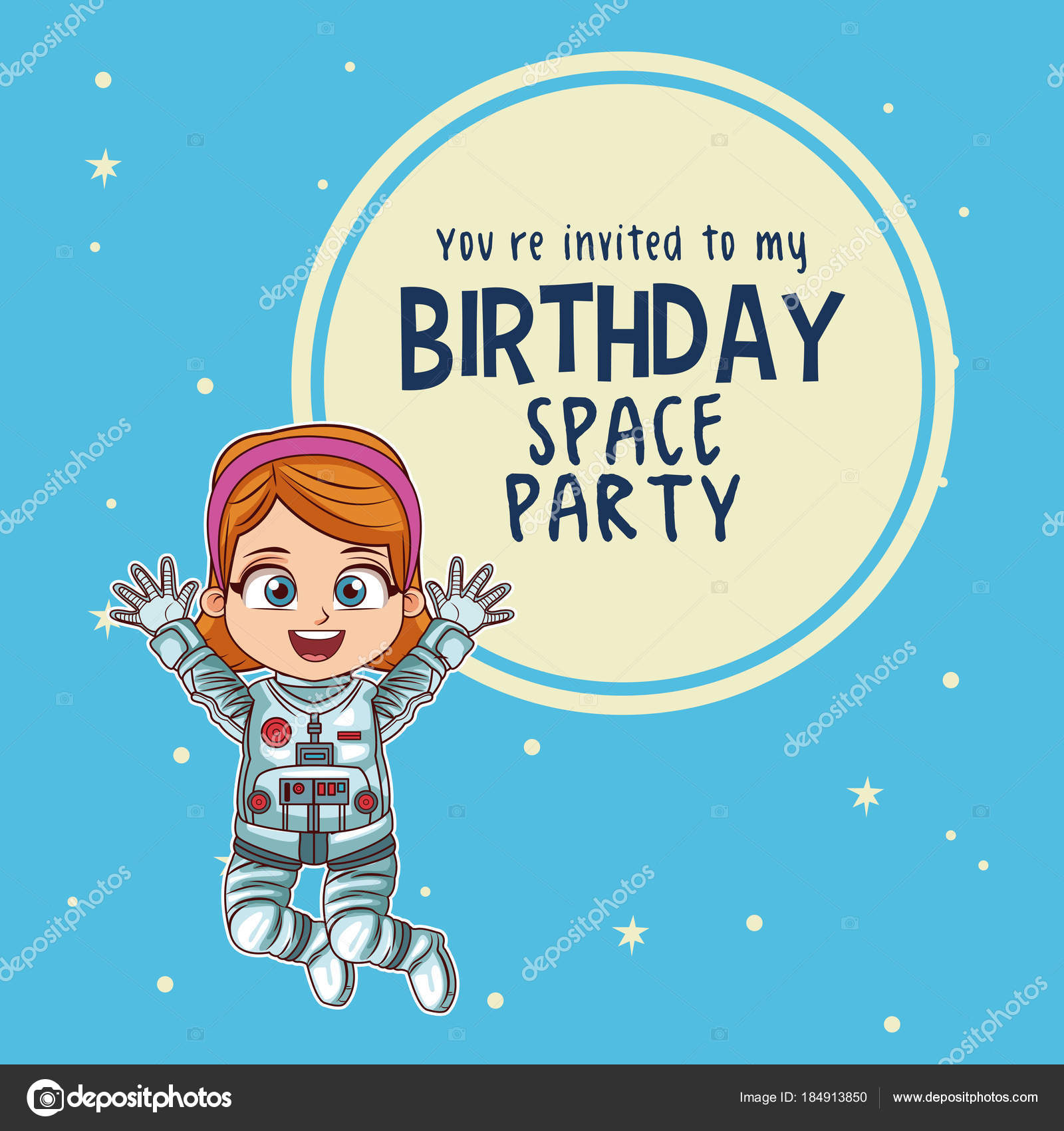 Alles Gute zum Geburtstag-Einladungskarte — Stockvektor © jemastock ...