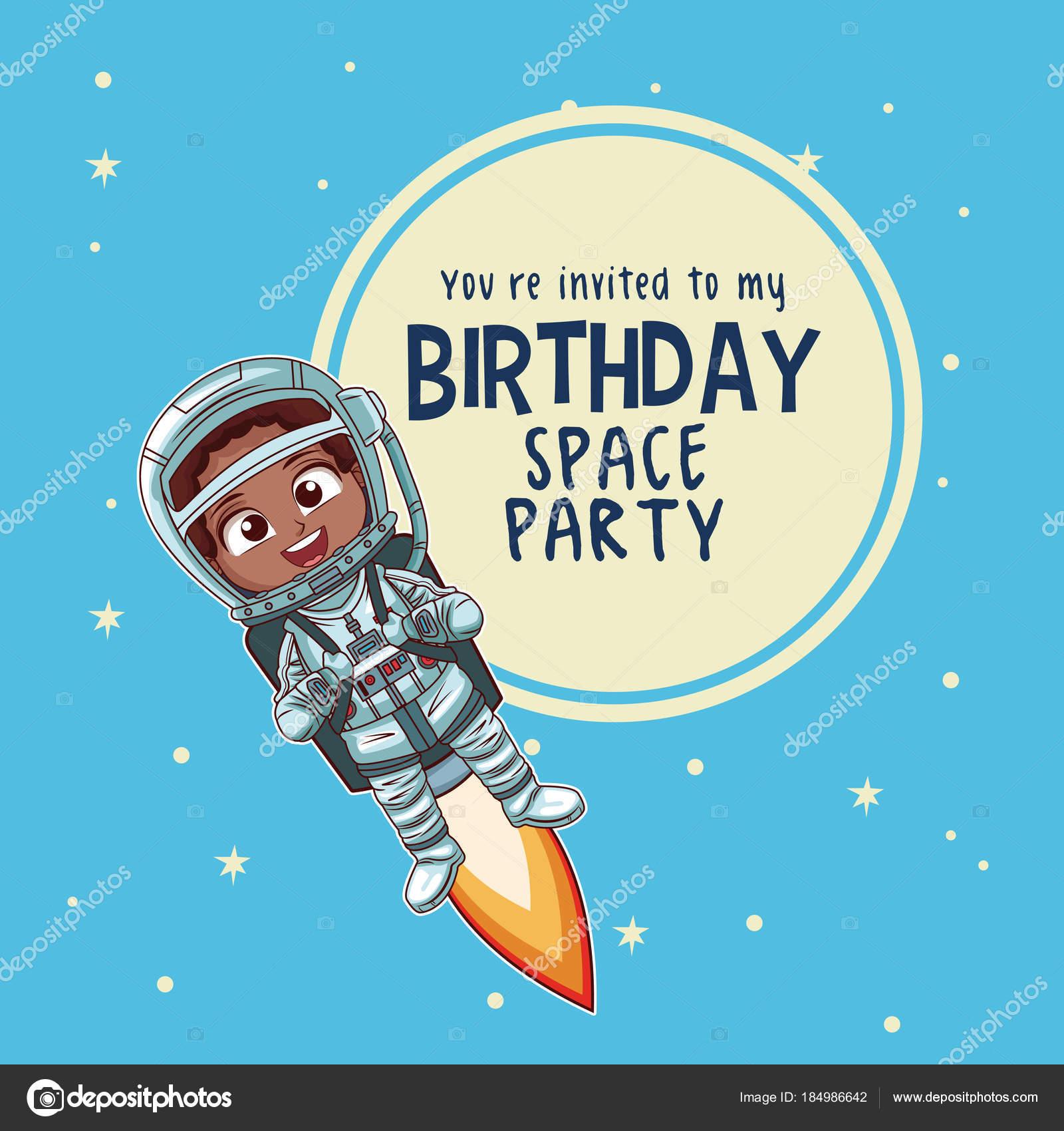 Diseño Invitacion Cumpleaños Infantil Tarjeta Del Feliz
