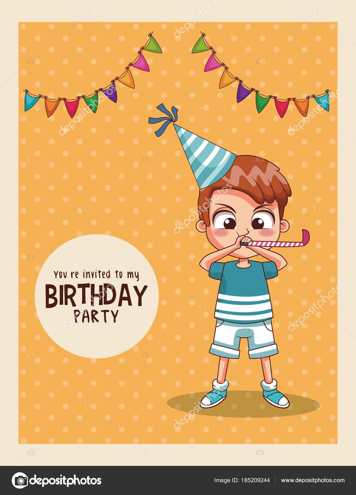 Invitacion Niños Cumpleaños Niños Cumpleaños Partido