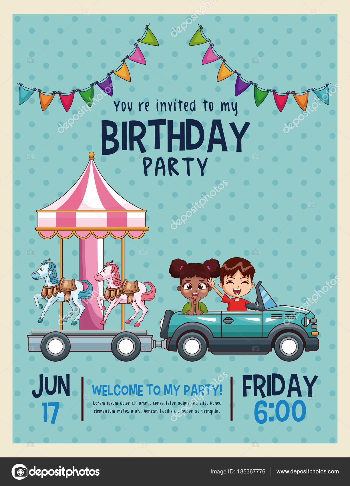 Invitaciones Cumpleaños Online Cars Tarjeta De Invitación