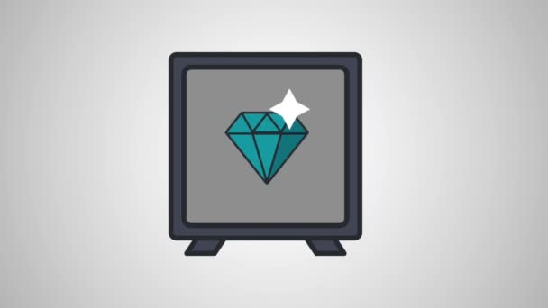 Diamond uvnitř strongbox Hd animaci