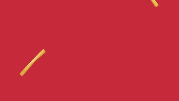 Patatine Fritte Raning Da Sfondo Rosso Animazione Hd