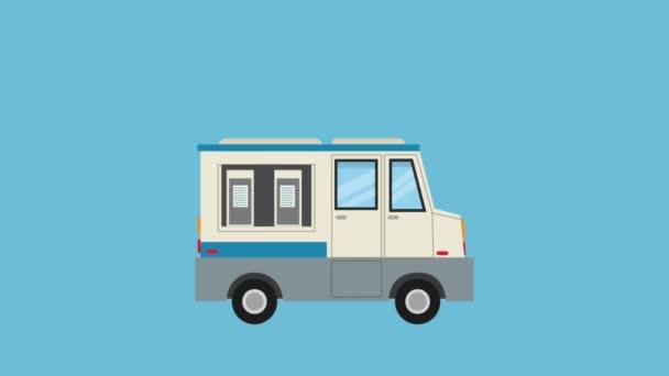 Ice cream truck Hd animaci