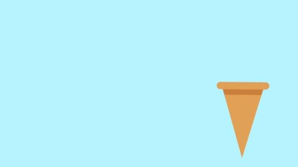 Ice cream cone nění kopečky Hd animaci
