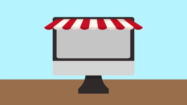 Fast food dodání a objednávky online Hd animace