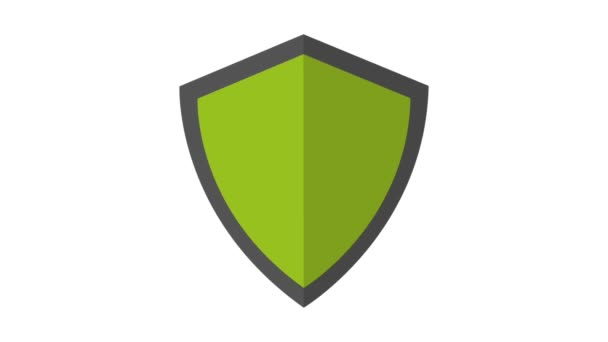 Pajzs védelmi szimbólum Hd animáció