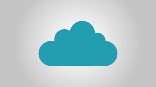Cloud computing technológia Hd animáció