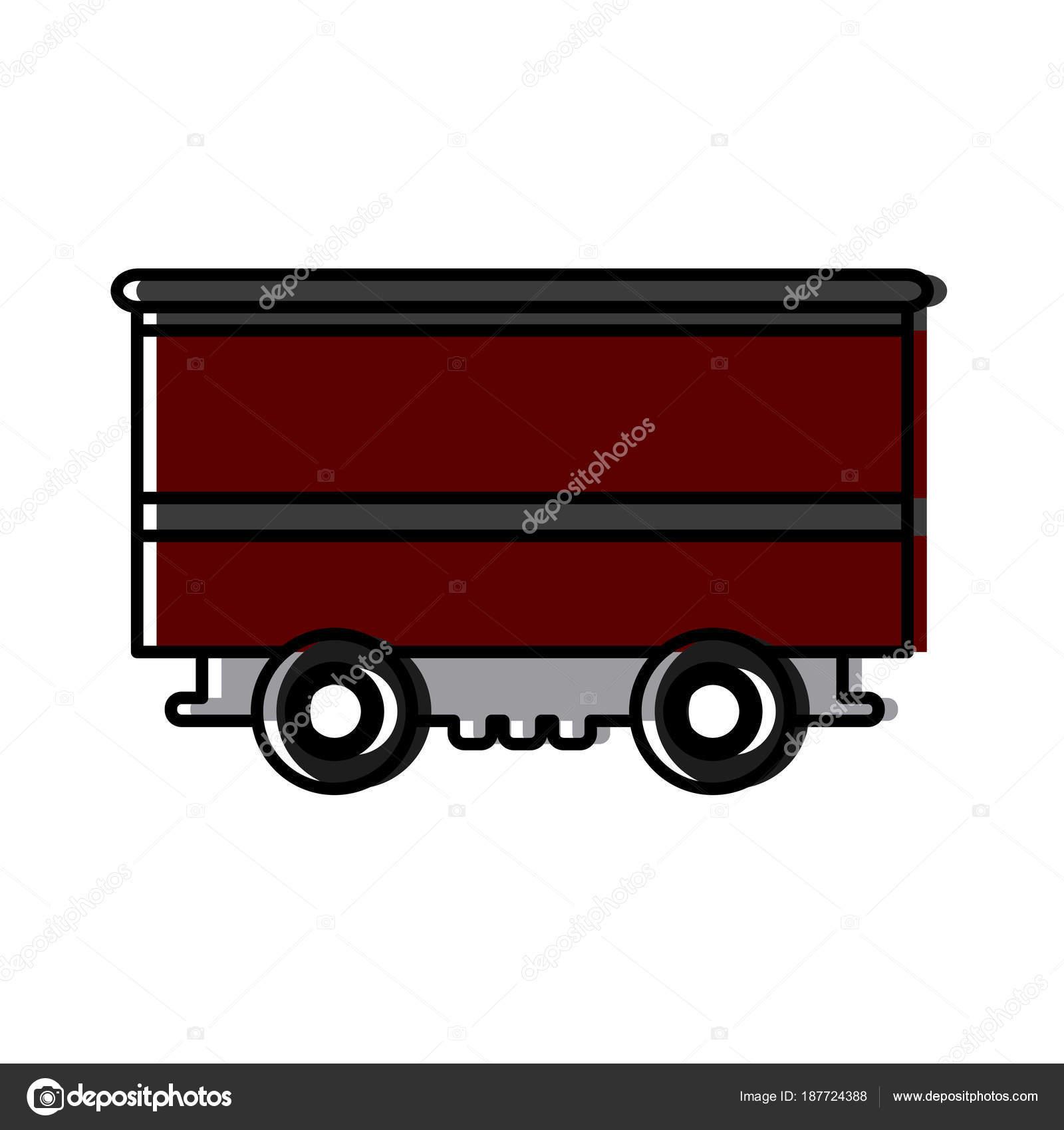Train cargo car container logistics heavy transport — Stock