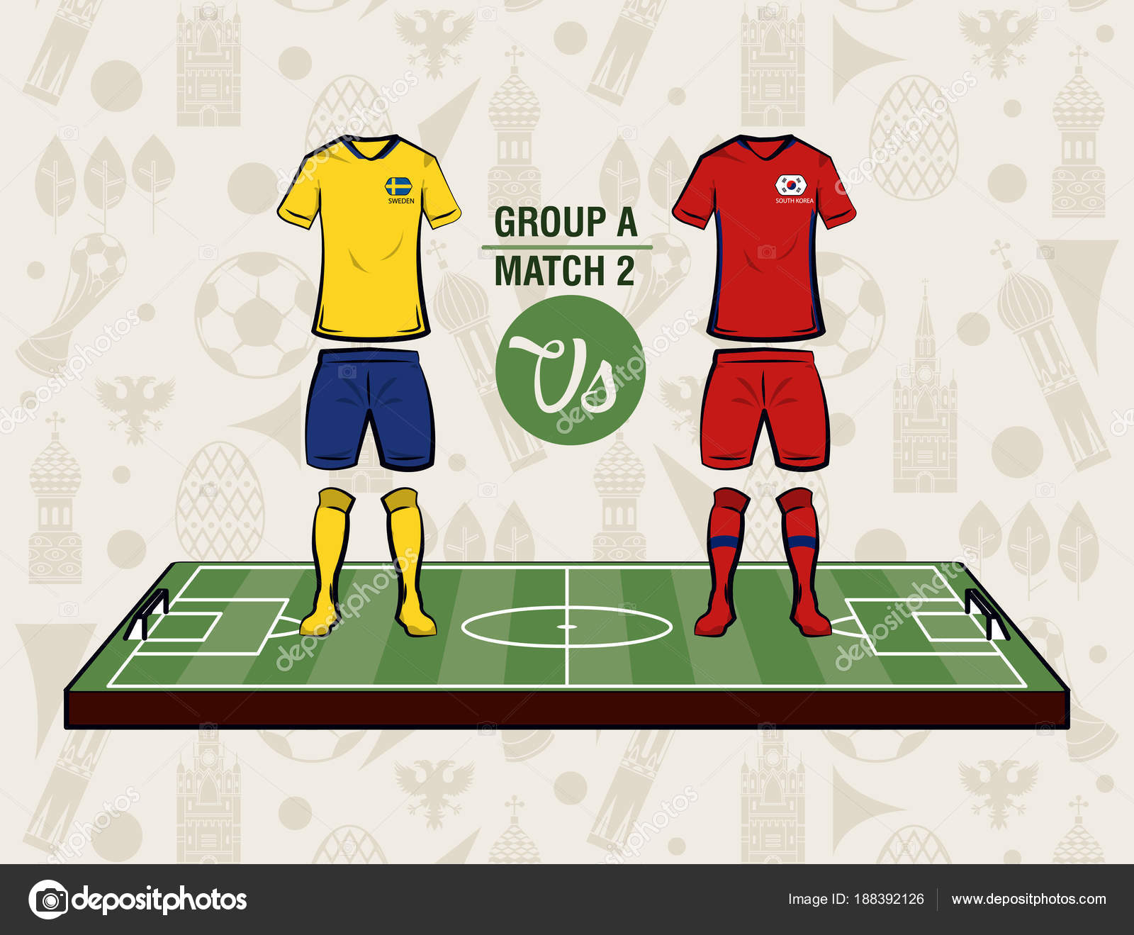 950c0fe98 Football sport wear russia 2018 vector illustration graphic design — Vector  by ...
