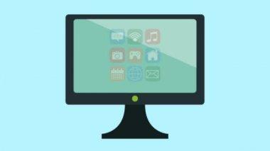 TV menüben beállított alkalmazások és nagyító animációkat
