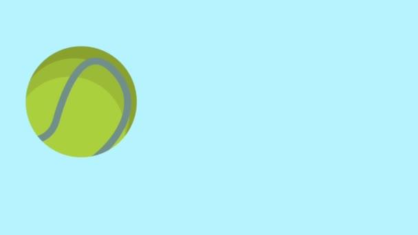 Racket And Tennis Ball Animation Stock Video C Jemastock 189211516