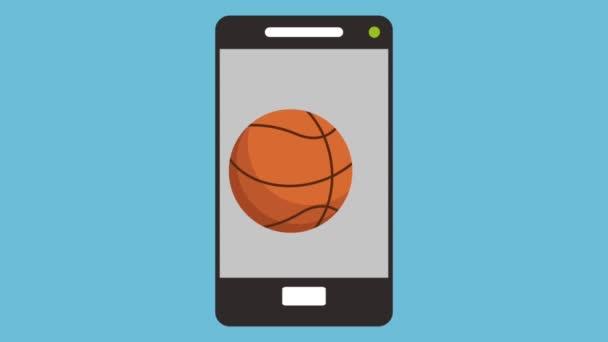 smartphone s balónky sportovní animace