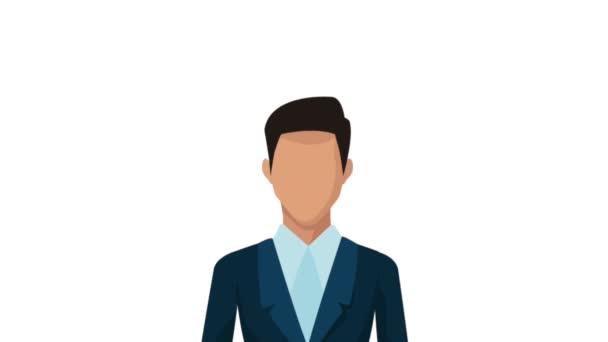 podnikatel, pomocí smartphone s žárovka animace