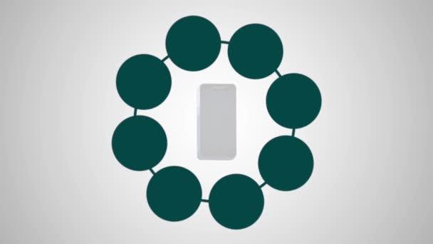 Smartphone mit Menü-Anwendungen-animation