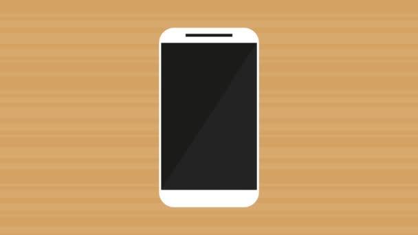 kézi használ smartphone menü alkalmazások animáció