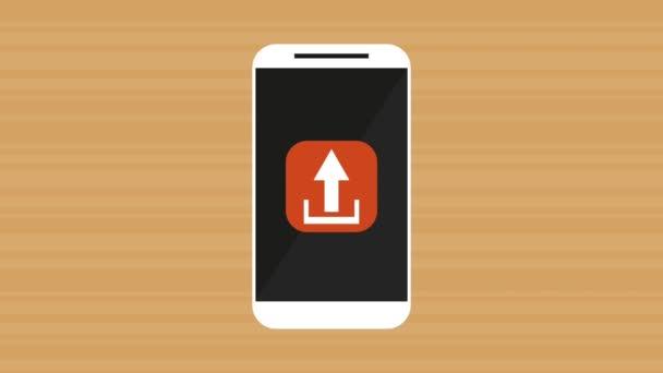 Smartphone mit Animation für Menüanwendungen