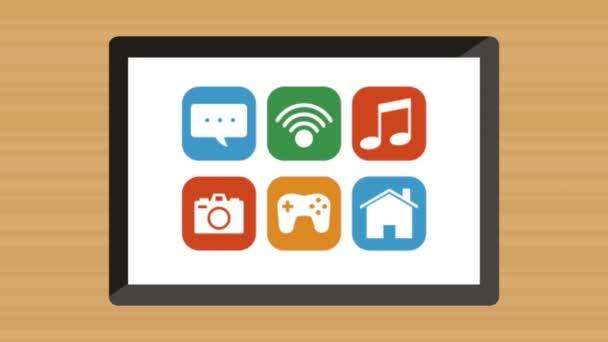Tablet-Gerät mit Anwendungen