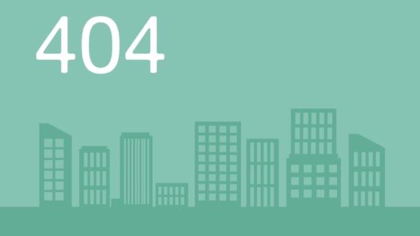 myš charakter s Chyba 404 animace