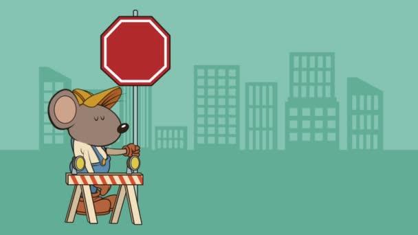 Maus-Generator mit Bau Zeichen Character-animation