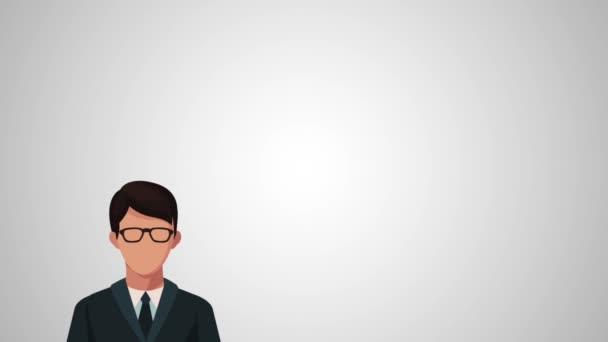 podnikatelé skupina avatary animace